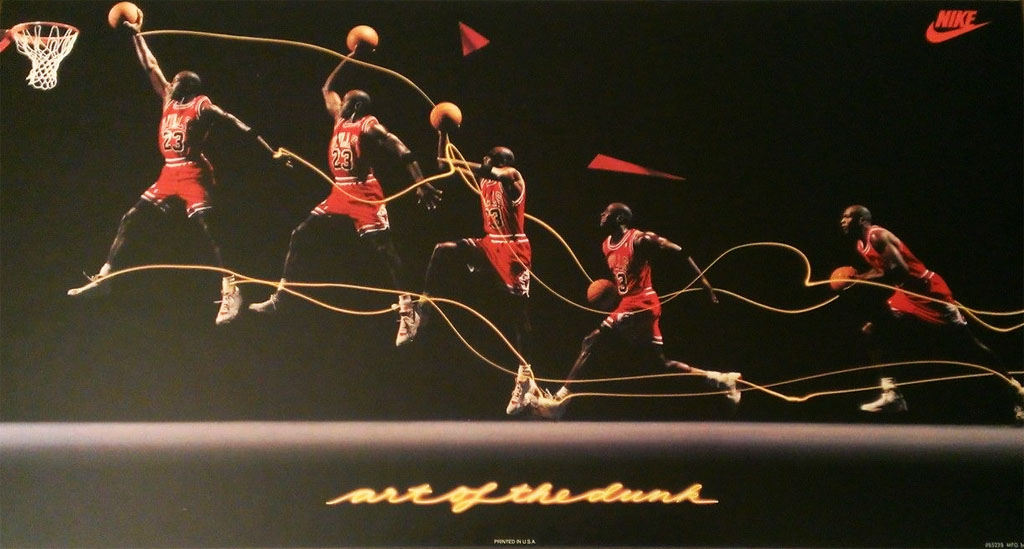 Michael Jordan 'Art of the Dunk' Nike Air Jordan Poster