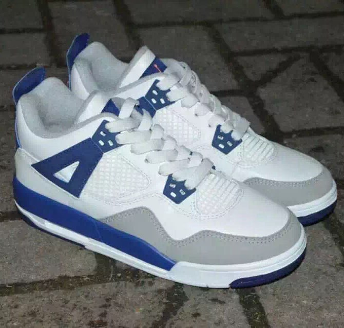 Air Jordan 4 Girls White/Royal-Wolf Grey Hyper Orange Release Date 487724-132 (8)