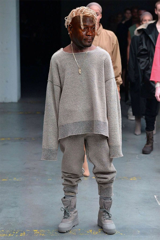 Best Michael Jordan Crying Sneaker Memes: Yeezy Season 1