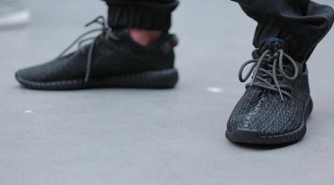 c150a7bd93b Here s How the  Black  adidas Yeezy 350 Boost Looks On-Foot