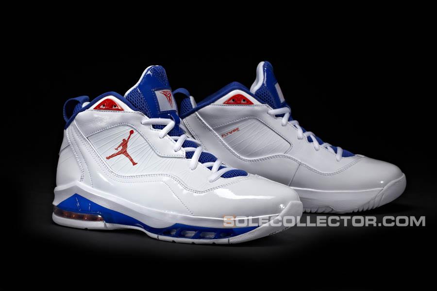 low priced 6e844 14508 Jordan Melo M8 White Blue Ribbon Orange Flash Knicks Home