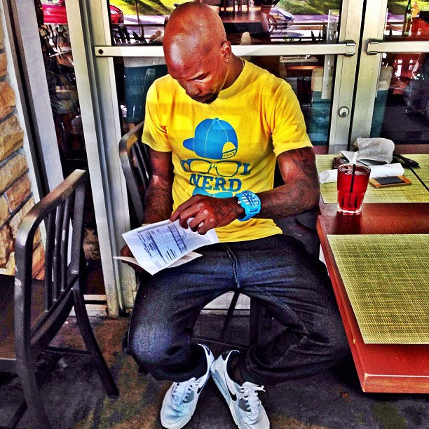 Chad Johnson wearing Nike Air Max 90