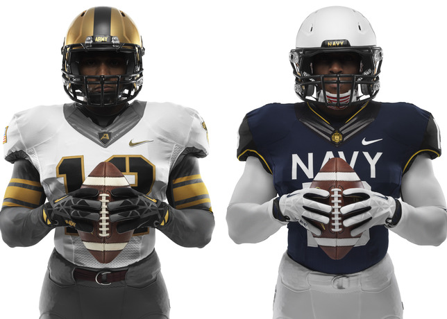 114th Army Navy Game Nike Uniforms front