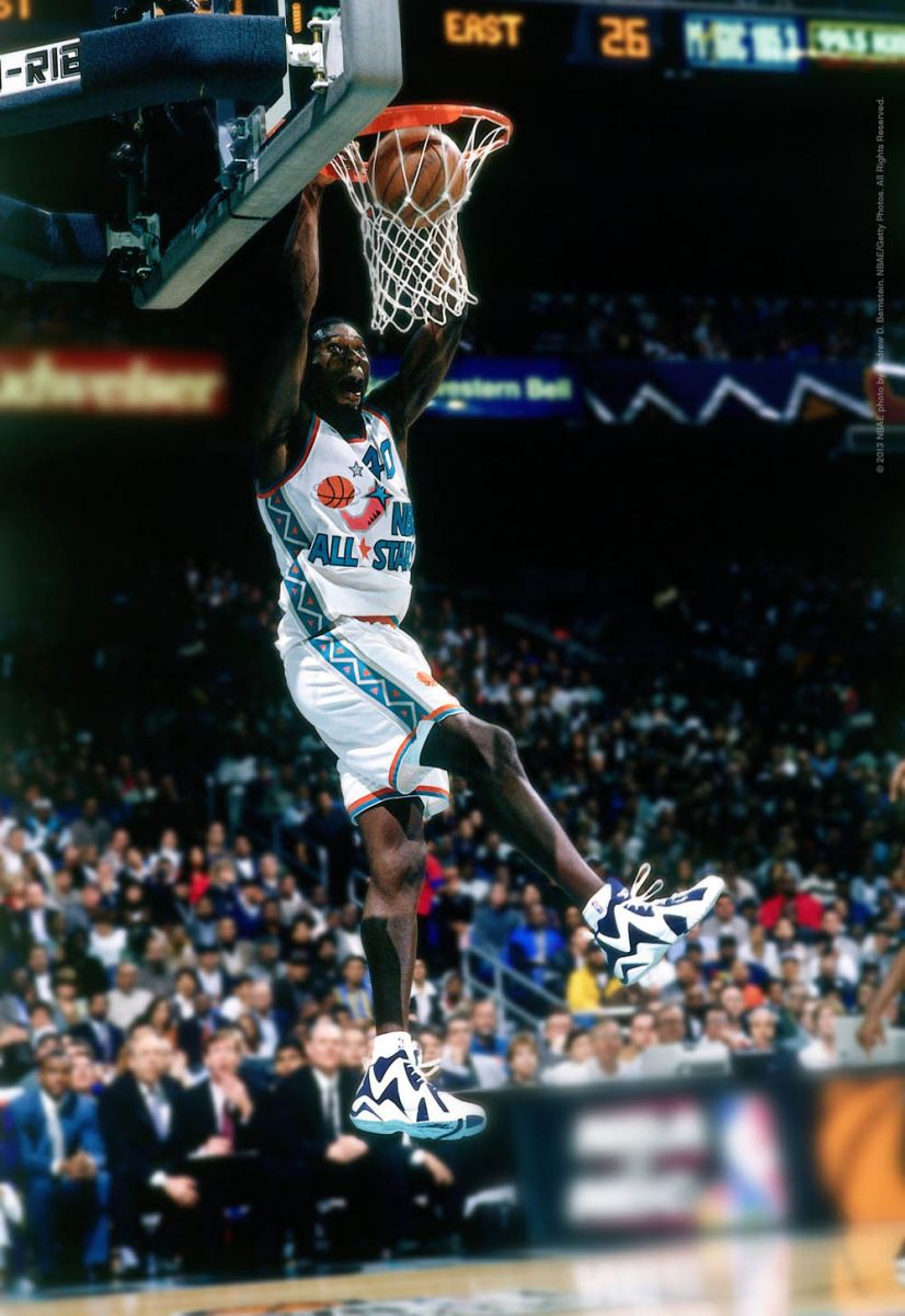 Flashback // Shawn Kemp in the 1996 All Star Game Wearing the Kamikaze II | Sole Collector