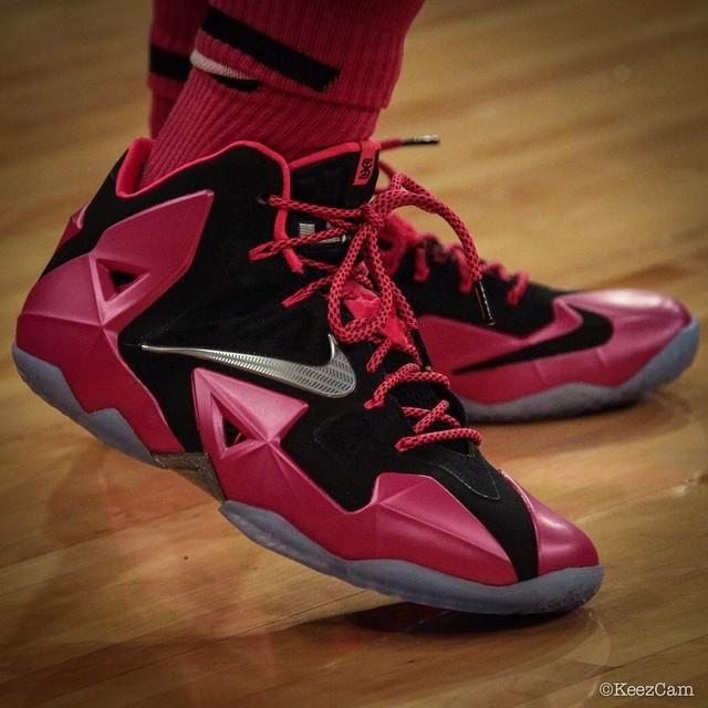 new style 5d02c 5a5d8 Nike LeBron XI 11 Swin Cash Pink Breast Cancer Awareness PE (1) Men Nike LeBron  James ...