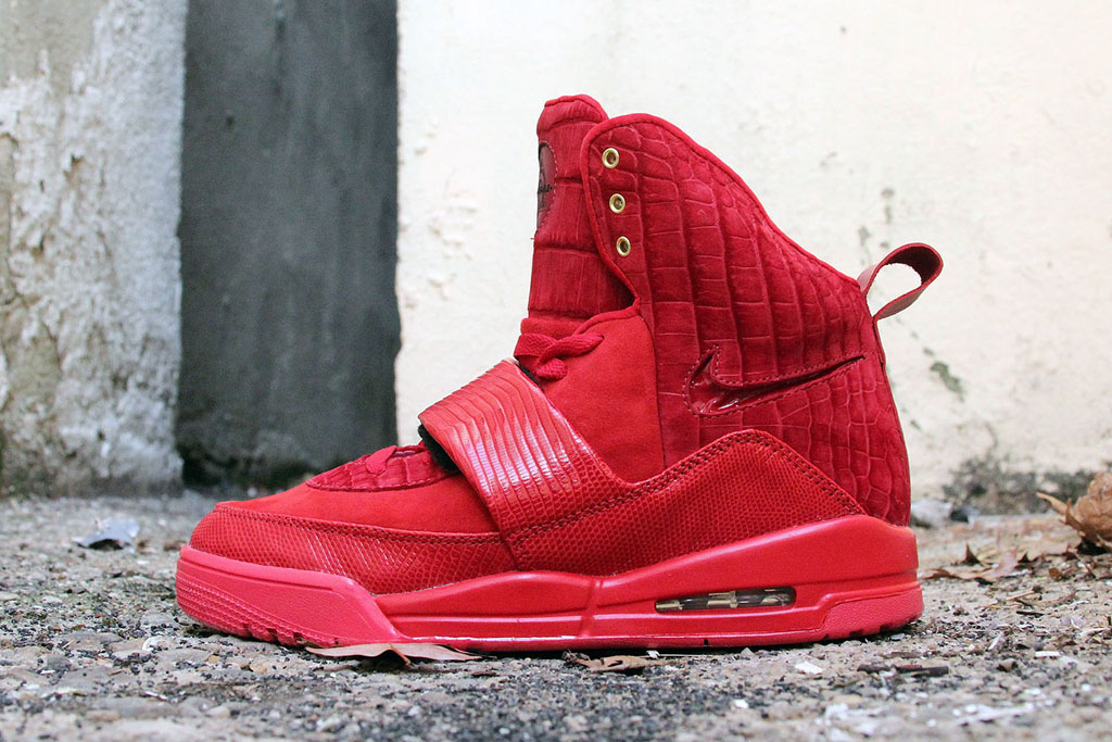 Nike Air Yeezy 'Red Croc Lizard Suede' by JBF Customs (1)