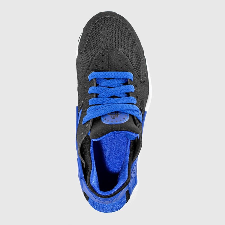 super popular d75d0 b9303 Nike Air Huarache GS Color  Black White-Lyon Blue Style    654275-005