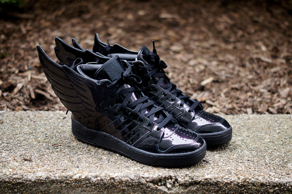 adidas jeremy scott wings 2.0 all black sneakers