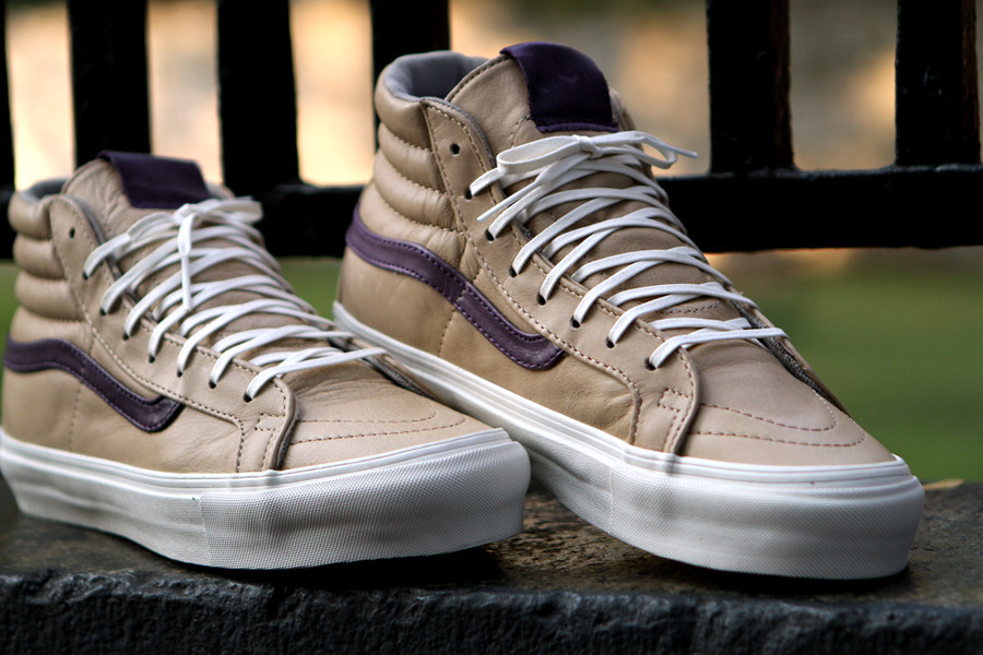 88ffe7b3be7232 Vans Vault OG Sk8 Hi - Tan   Purple