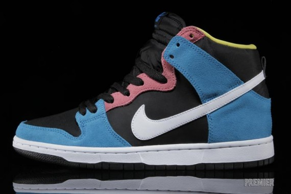 on sale 65e31 5da3e The Blue Hero White-Black Nike SB Dunk High is now available for purchase  from Premier.