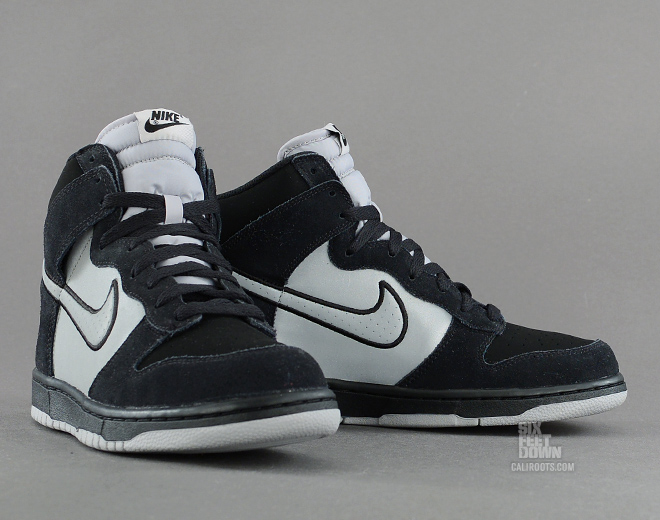 Nike Dunk High in black and reflective silver