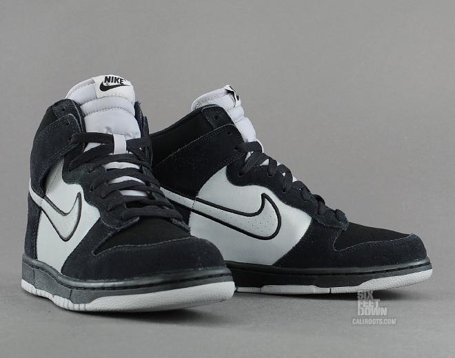 ab81ef396499 Nike Dunk High - Black   Reflective Silver