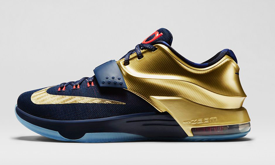 reputable site 310f7 ad462 Nike KD 7 Gold Medal Release Date 706858-476 (2)