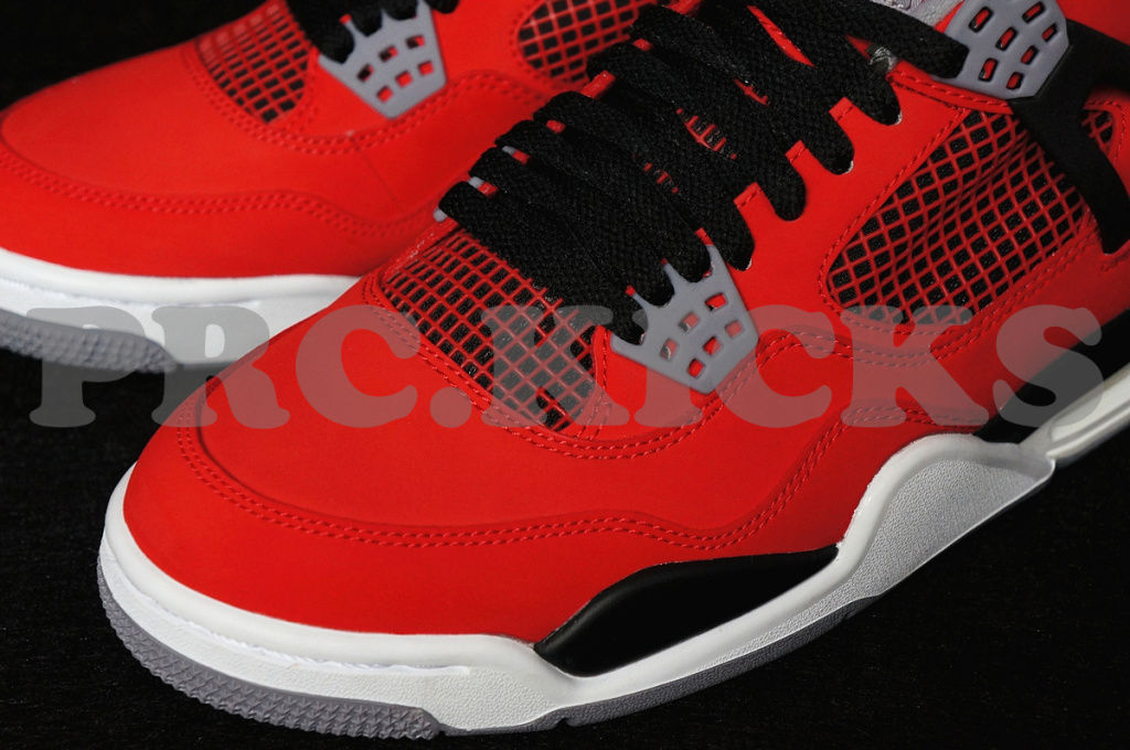 Air Jordan IV 4 Fire Red White Black 308497-603 (10)