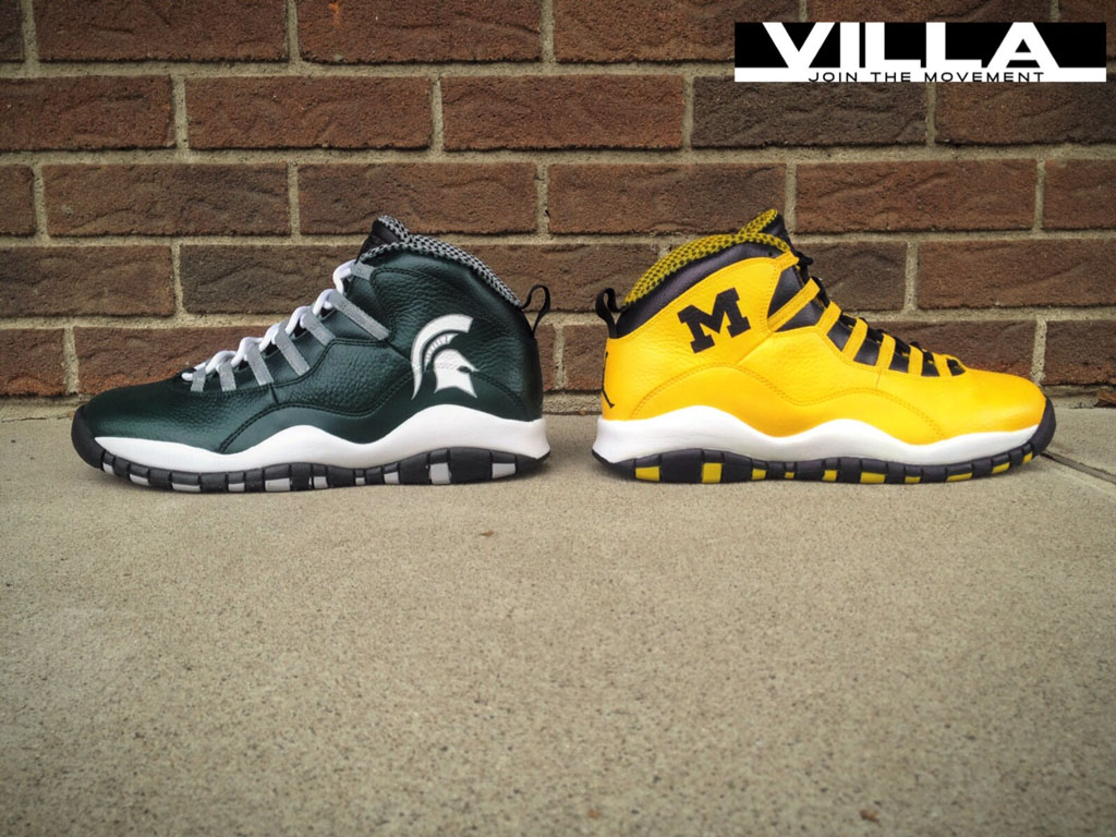 best service b4b35 8c2cf Air Jordan 10 X  A State Divided  for VILLA by Mache Custom Kicks