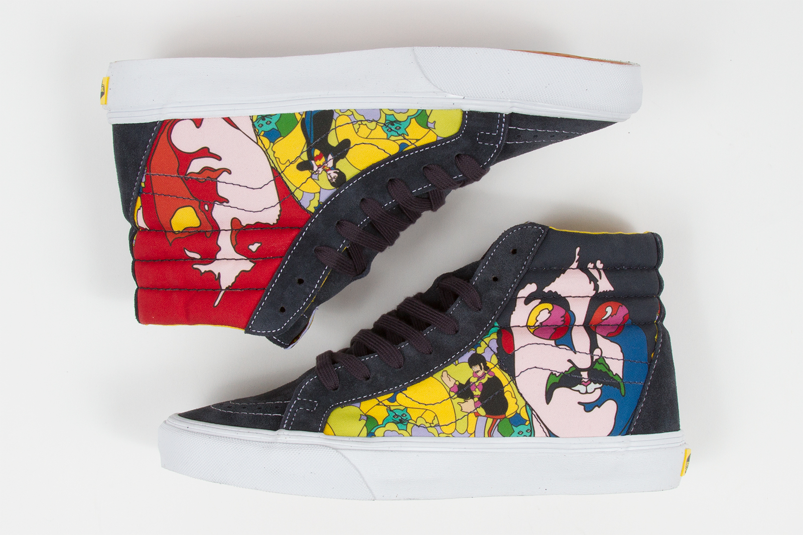 c0ba2f76425 A surprise sell out sneaker in our shop was definitely the Vans x Beatles  Sk8-Hi and Era. It s definitely a dope sneaker ...