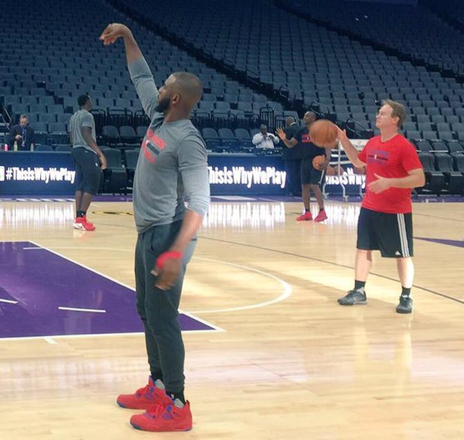 Chris Paul Air Jordan 4 Clippers Red  a5ed3b02ed88