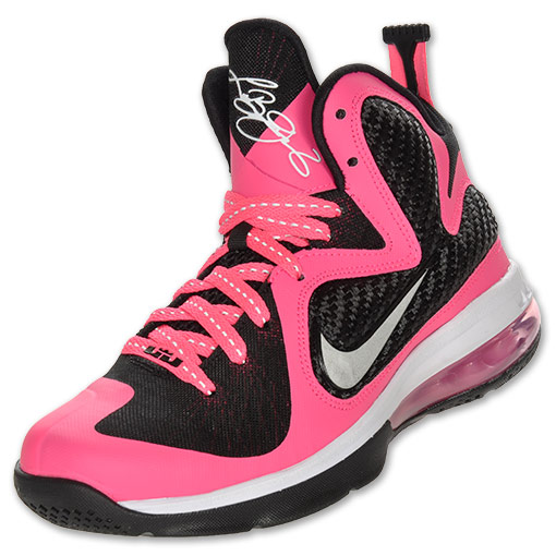 9d4a9f84bfd The Laser Pink Black LeBron 9 GS is now available for purchase from Finish  Line and is expected to arrive at other retailers soon.