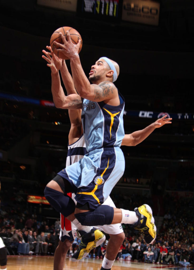 Jerryd Bayless wearing adidas Top Ten 2000 Rivalry