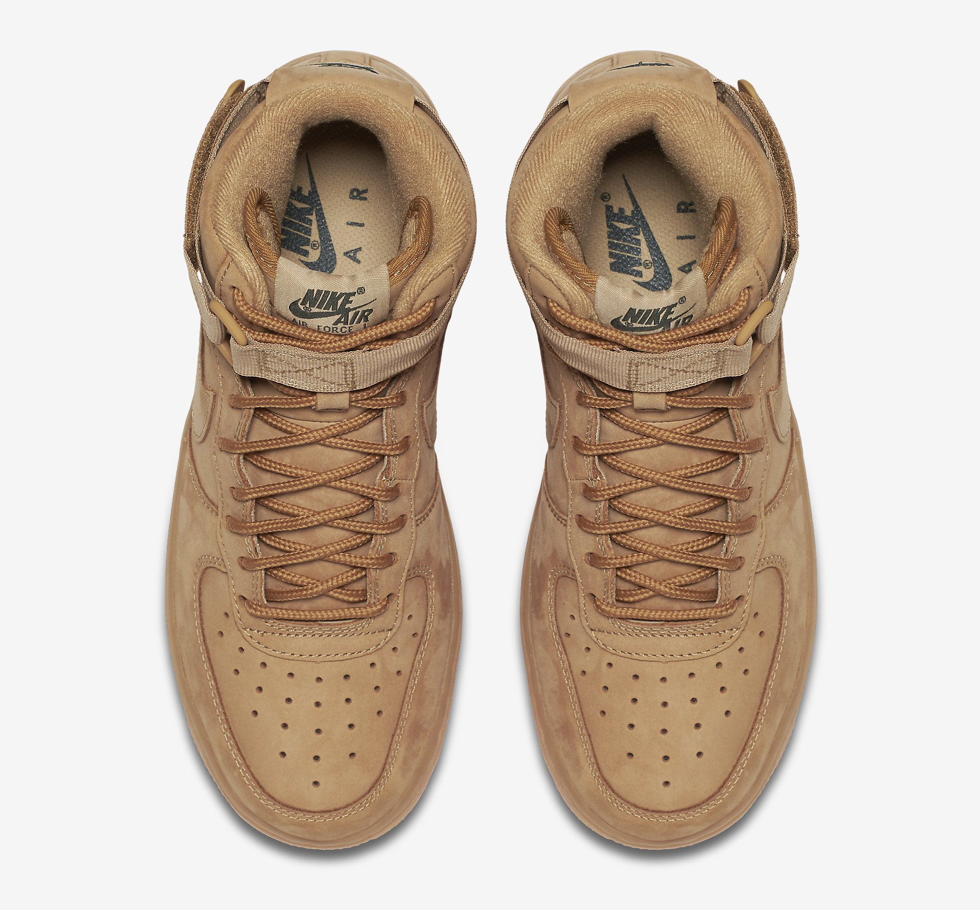Image via Nike Wheat Nike Air Force 1 654440-200 Top c618f99320