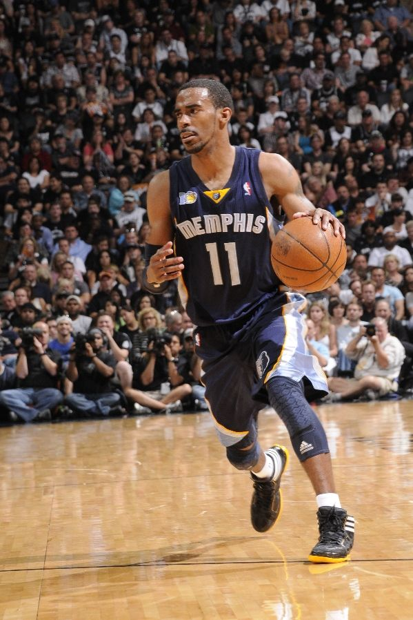 Mike Conley wearing the adidas adiZero Crazy Light