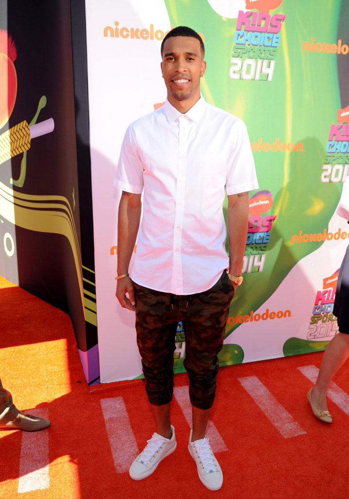 Courtney Lee wearing Balenciaga Arena Low