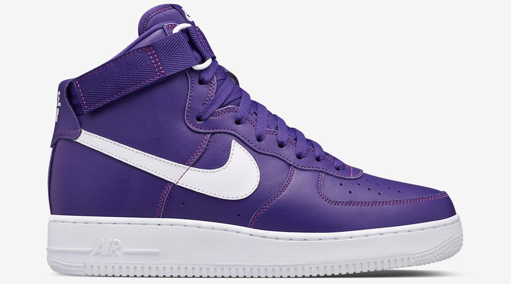 nike air force 1 purple swoosh