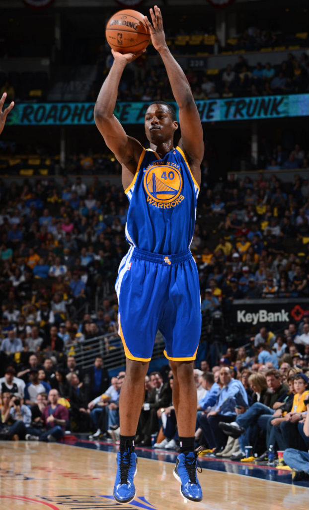 Harrison Barnes wearing adidas Rose 773 Blue Black