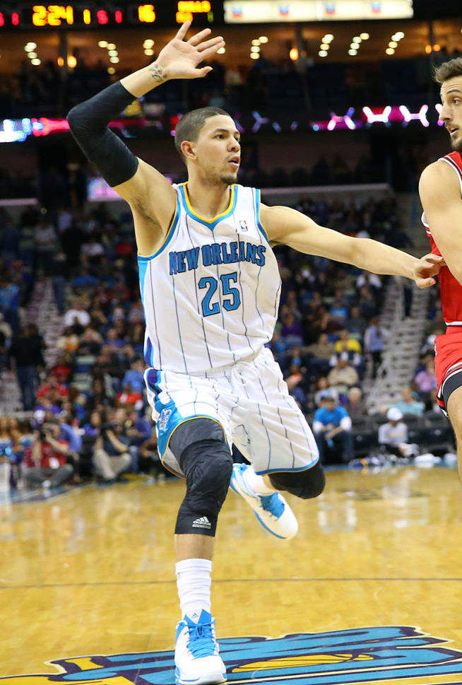 Austin Rivers wearing adidas Crazy Fast