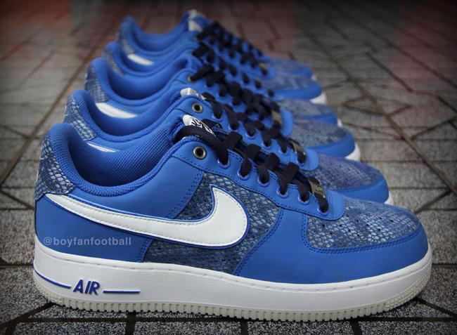 Nike Air Force 1 Faible Serpent Bleu