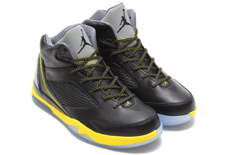 Air Jordan Flight Remix Black/Vibrant Yellow-Cool Grey Release Date 679680-070 (8)