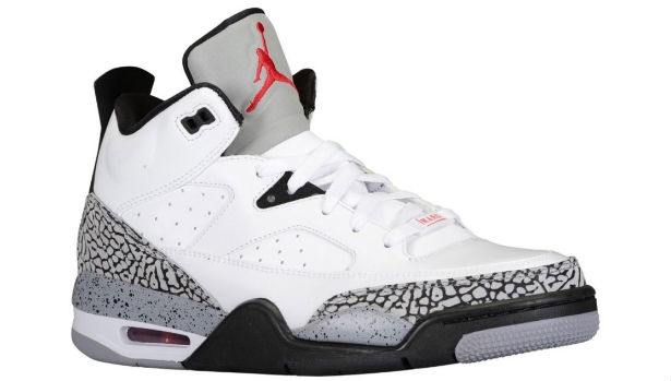 Jordan Son of Mars Low White/Red-Cement Grey