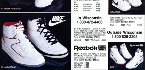Air Jordan 2 in Eastbay Catalog 1987