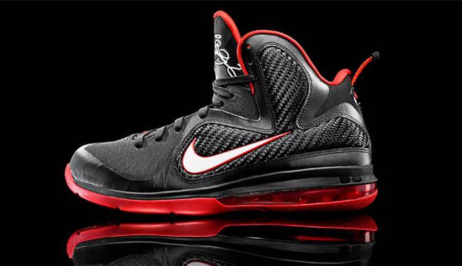 Nike LeBron 9 - Black/White-Sport Red