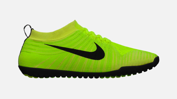 Nike Free Hyperfeel in Volt Black Electric Yellow and Electric Green profile
