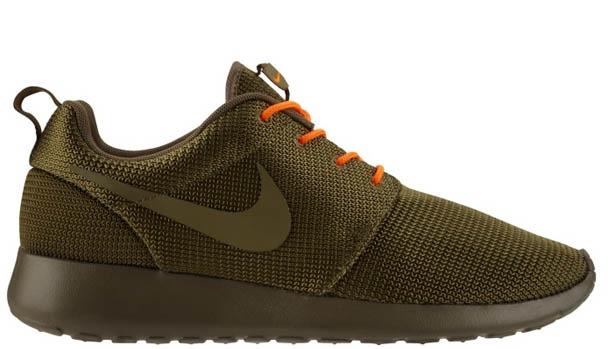 Nike Roshe Run Squadron Green/Total Orange