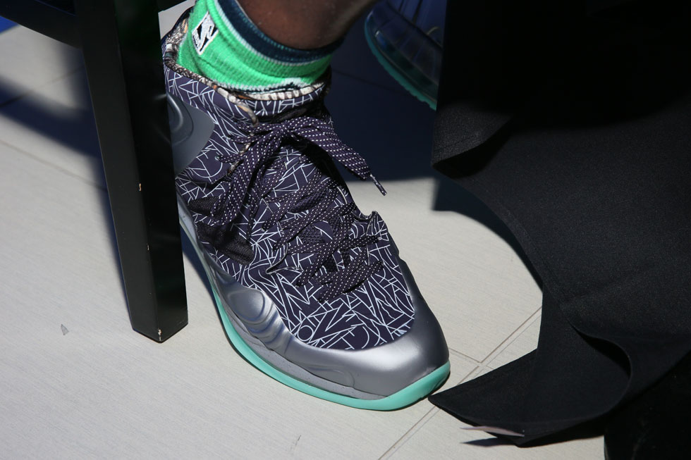 Chris Bosh wearing Nike Air Max Hyperposite Gumbo All-Sar