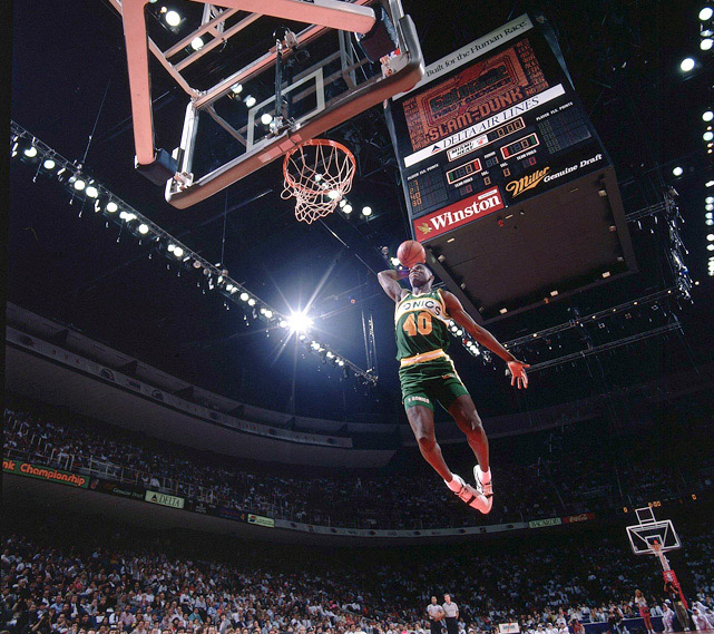 8d0149c1aa0a Shawn made it to the semifinals of the 1990 Slam Dunk Contest in Miami as  the youngest player in the NBA at 20 years of age. On his feet for the  night ...