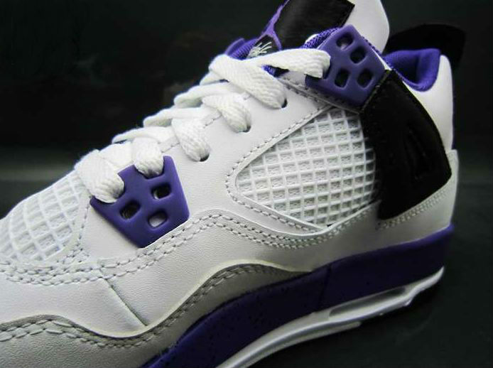 84653c75cdd9 Air Jordan IV 4 GS White Ultraviolet Black 487724-108 (4)