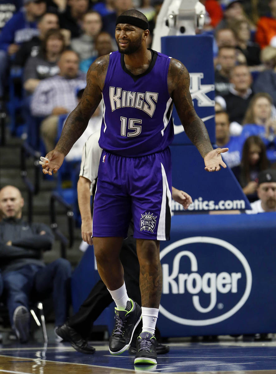 DeMarcus Cousins wearing the 'Joker' Air Jordan 3 (1)