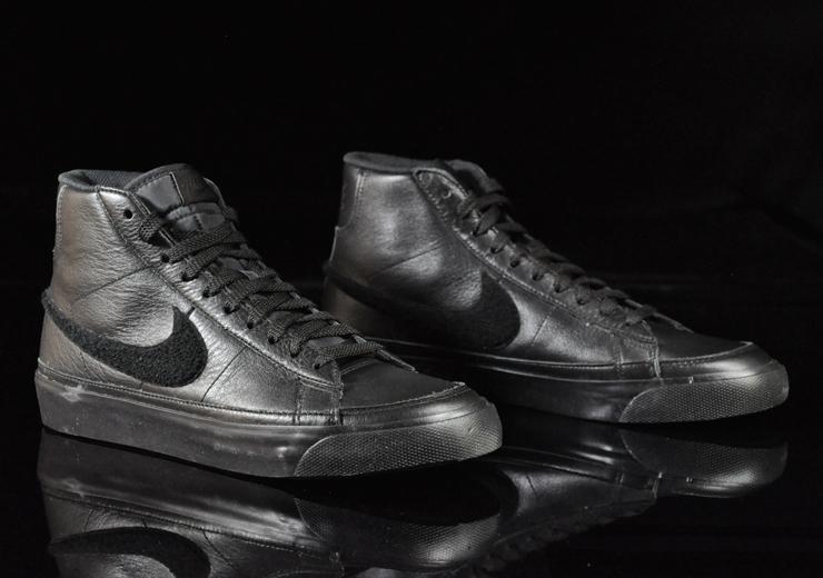 Nike Blazer Mid Premium - Black   White  caed58677