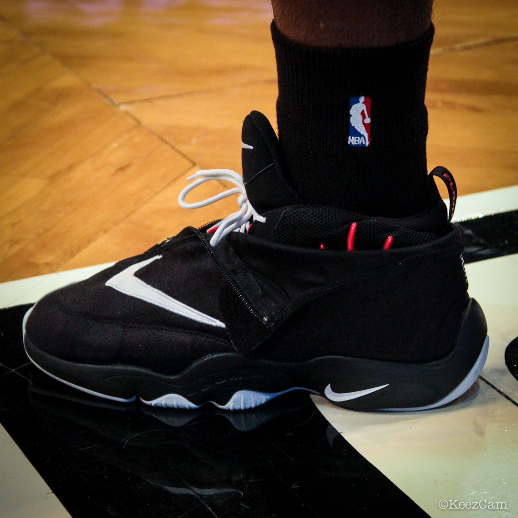 Sole Watch // Up Close At Barclays for Nets vs Cavs - Anthony Bennett wearing Nike Air Zoom Flight the Glove