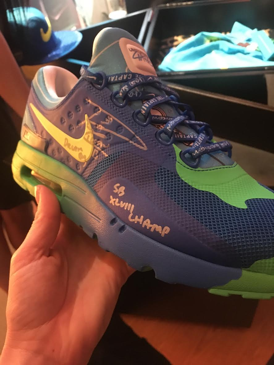 Nike Air Max Zero Doernbecher by Chase Swearinger Signed by Russell Wilson