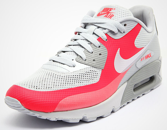Nike Air Max 90 Hyperfuse GreySilver Solar Red New