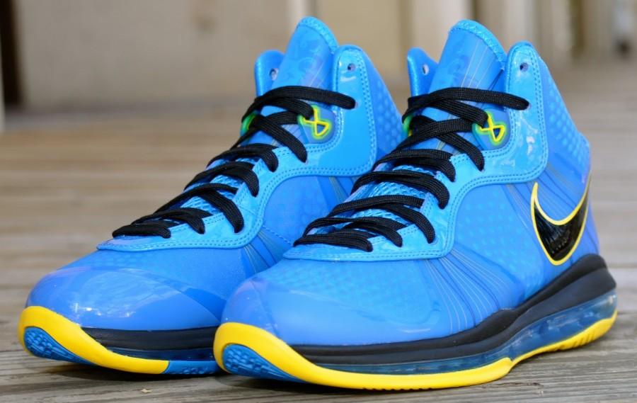pretty nice 8e911 6274d Nike Air Max LeBron 8 V 2 Entourage Photo Blue Black Tour Yellow 429676-