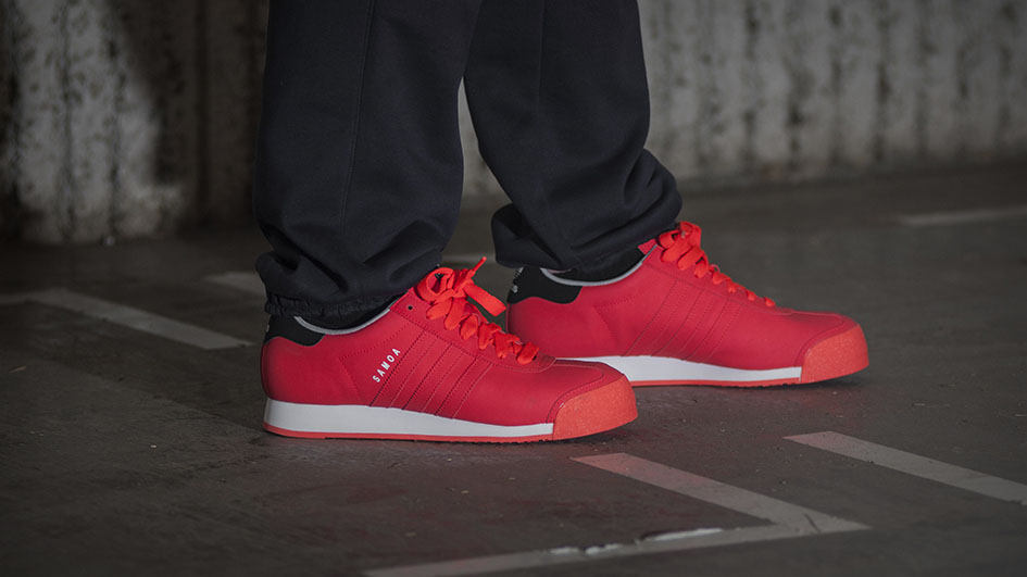 Finish Line Selling Exclusive  Infrared  adidas Originals Samoa ... aca355689