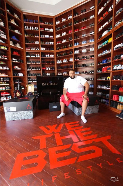 new arrival 22a4d 709ef DJ Khaled s Remodeled Sneaker Room Is The Best