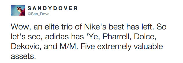 Twitter Reacts to Nike Designers Leaving for adidas (9)