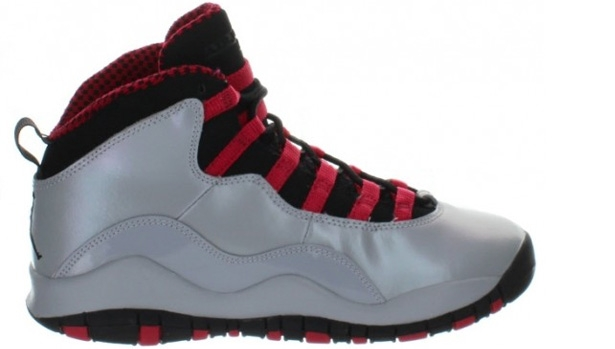 Air Jordan 10 Retro Girls Wolf Grey/Black-Legion Red