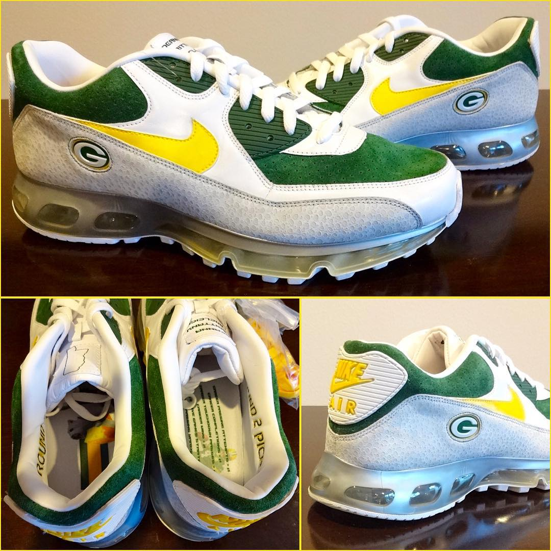 c66b99c1eb This Packers-Themed Nike Air Max Sample Was Made for Brett Favre ...
